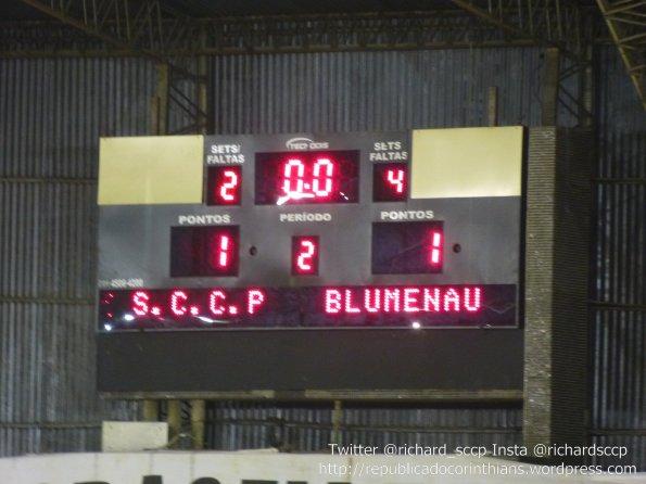 Liga Futsal 2014 - 1° rodada - Corinthians 1x1 Blumenau (SC)