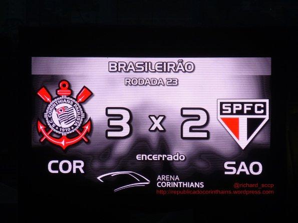 Campeonato Brasileiro 2014 – 23° rodada – Corinthians 3x2 São Paulo