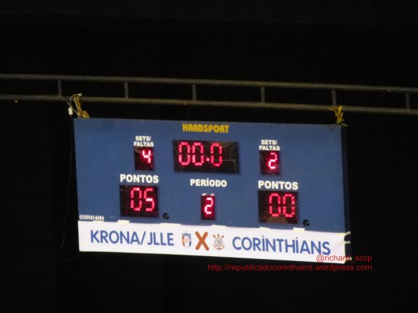 Liga Futsal 2014 - Grupo B - 3° rodada - Krona/Joinville (SC) 5x0 Corinthians