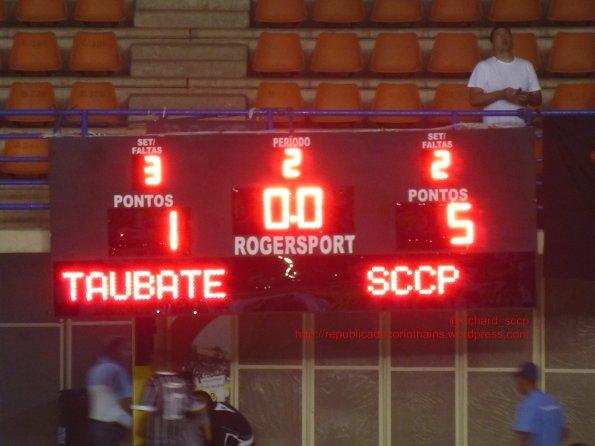 Liga Paulista de Futsal 2014 - 3° fase - Quartas de Final (IDA) - A.D.C. Ford/Taubaté 1x5 Corinthians