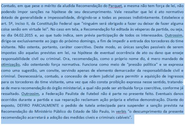 Sentença Corinthians