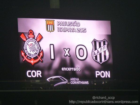 Campeonato Paulista 2015 - 16° rodada - Corinthians 1x0 Ponte Preta